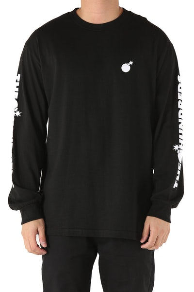 The Hundreds Forever Solid Bomb Long Sleeve Tee Black