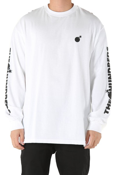 The Hundreds Forever Solid Bomb Long Sleeve Tee White