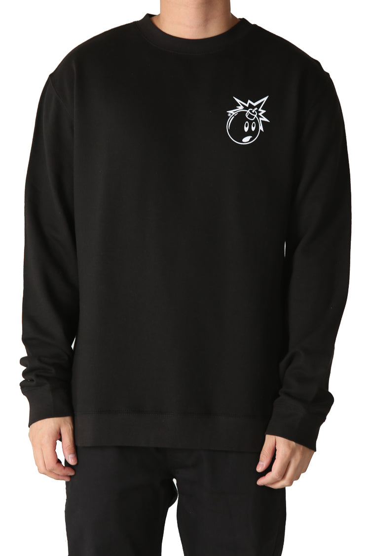 The Hundreds Simple Adam Bomb Long Sleeve T-Shirt New Charcoal in Size S,M,L