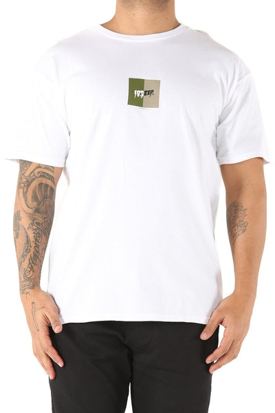 10 Deep Split Tee White
