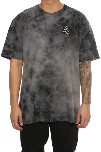 Huf 420 Triple Triangle Tee Smoke Black