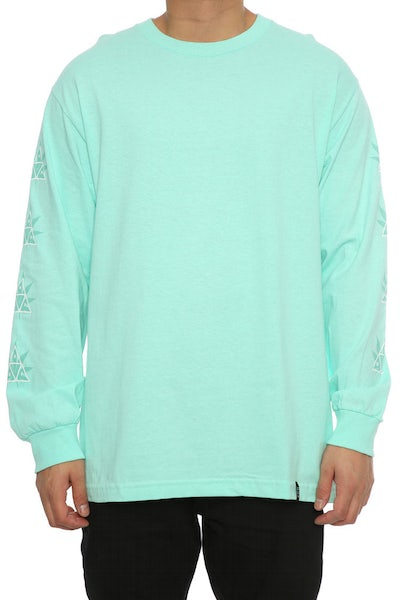Huf 42 Triple Triangle Long Sleeve Tee Mint