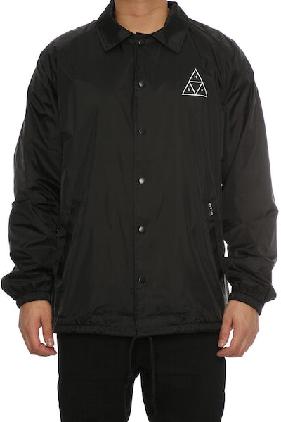 Huf 420 Plantlife Coaches Jacket Black