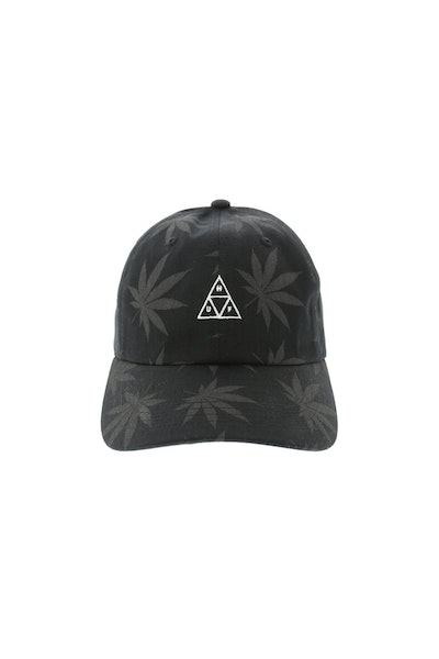 Huf 420 Triple Triangle Dad Hat Strapback Black