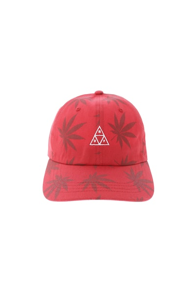 Huf 420 Triple Triangle Dad Hat Strapback Red