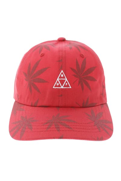 sports shoes ef2a7 e340d Huf 420 Triple Triangle Dad Hat Strapback Red