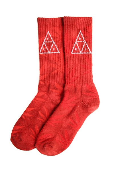 Huf 420 Triple Triangle Sock Smoke Red
