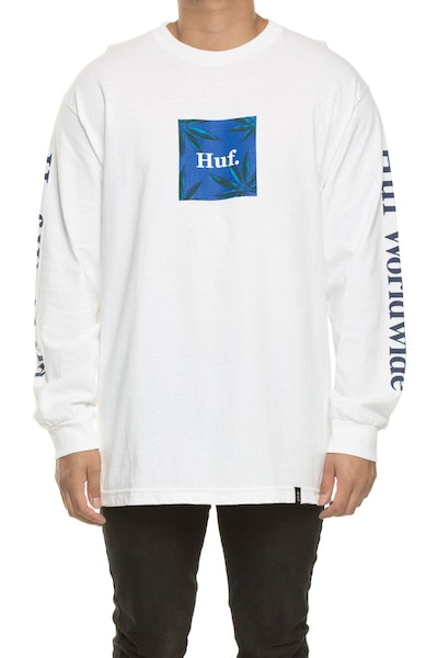 Huf Plant Life L/S Woven Label Tee White