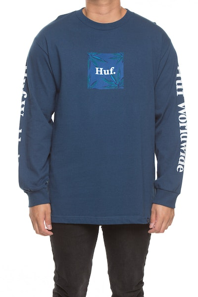 Huf Plant Life L/S Woven Label Tee Blue