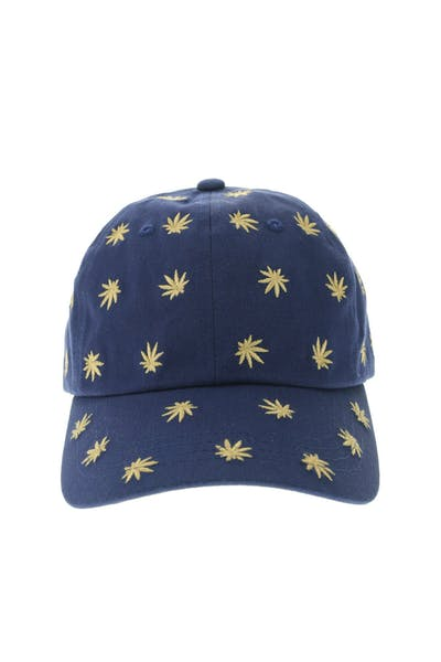 Huf Plant Life Embroidered Dad Hat Blue