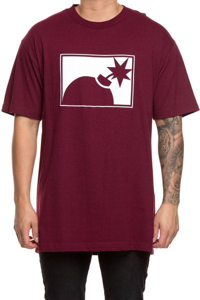 The Hundreds Forever Half Bomb Tee Burgundy