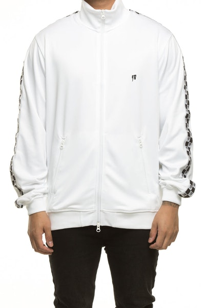 10 DEEP CHECKERED FLAG TRACK ZIP WHITE
