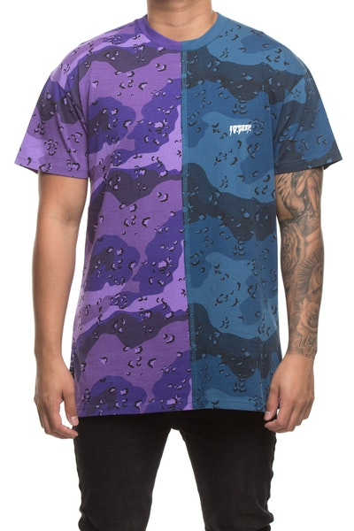 10 DEEP LAWLESS SPLIT TEE MULTI-COLOURED