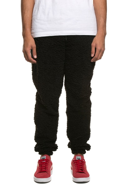 10 Deep Poodle Fleece Pant Black