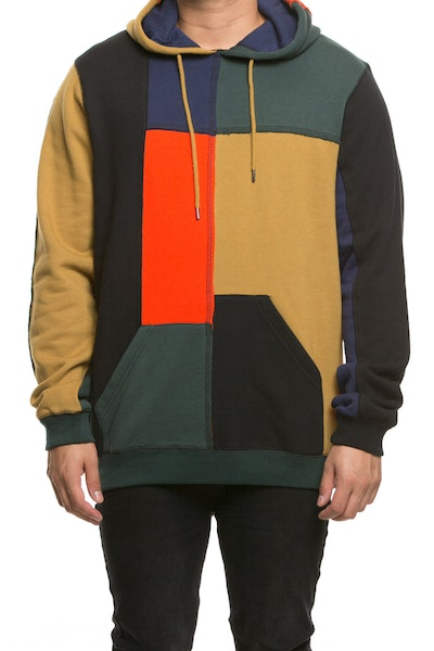 10 Deep Arise Patchwork Hoodie Multi-Coloured
