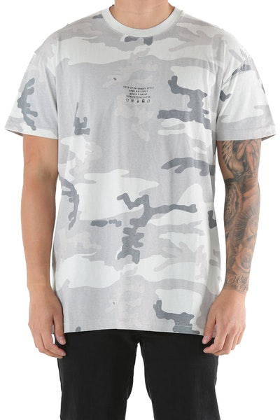 10 Deep Corps Surplus Tee White/Camo