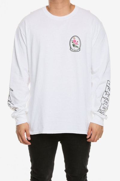 10 Deep In Loving Memory LS Tee White