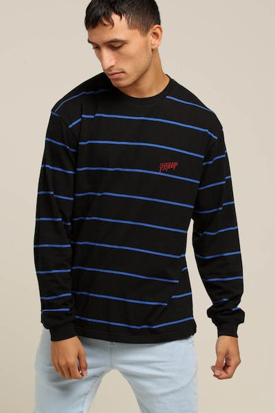 10 Deep S&F L/S Stripe Tee Black