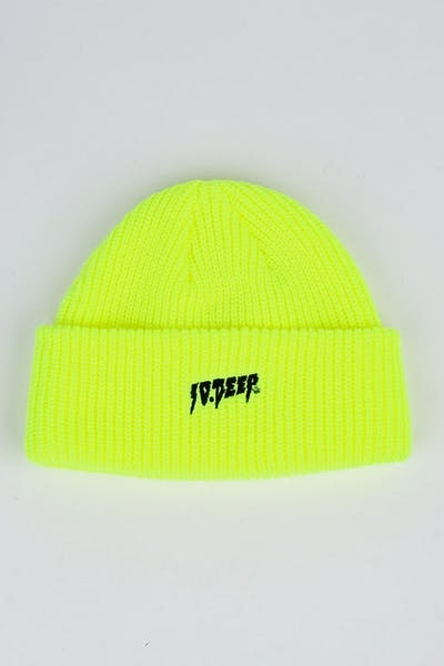 10 Deep Sound Fury Beanie Neon Yellow