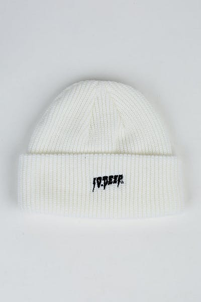 10 Deep Sound Fury Beanie White