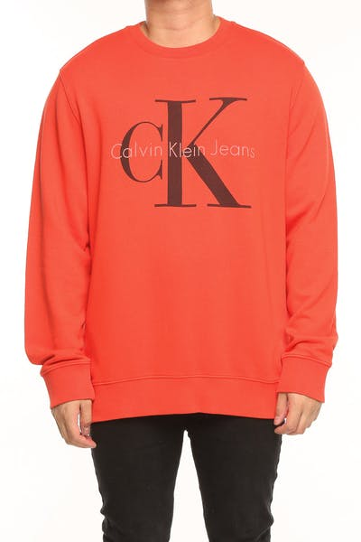 CALVIN KLEIN POP COLOUR SWEATSHIRT ORANGE