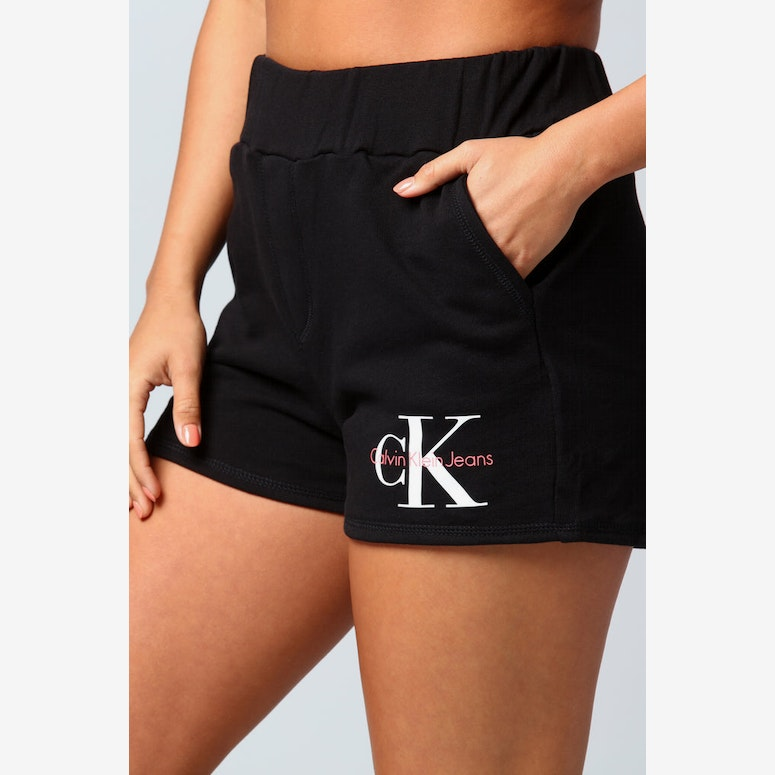 Calvin Klein Women's Monogram Terry Shorts Black