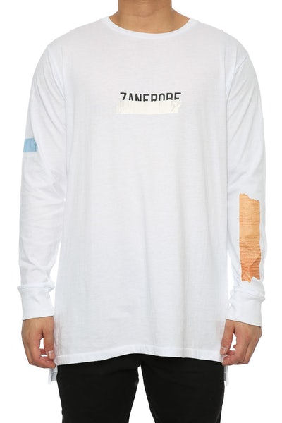 Zanerobe Tape Flintlock LS Tee White
