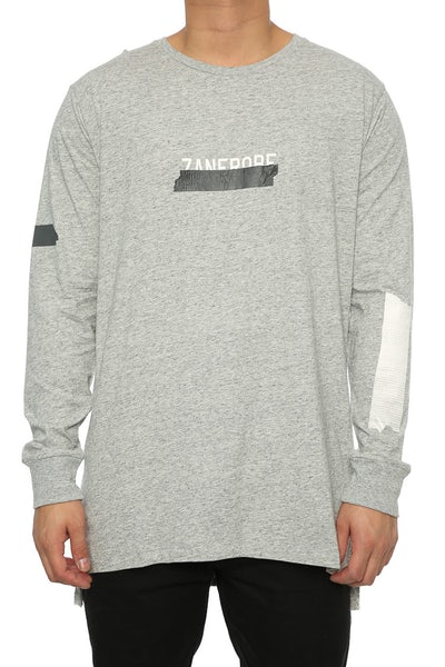 Zanerobe Tape Flintlock LS Tee Grey