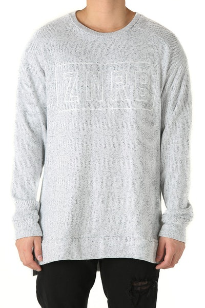 Zanerobe Bloc Crew Sweat White/Speckle