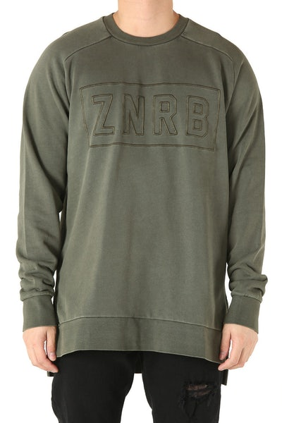Zanerobe Bloc Crew Sweat Military