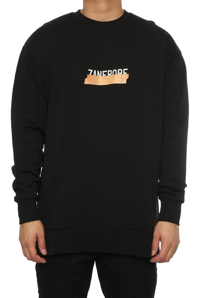 Zanerobe Tape Rugger Crew Sweat Black