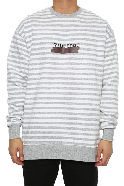 Zanerobe Tape Rugger Crew Sweat White/Grey
