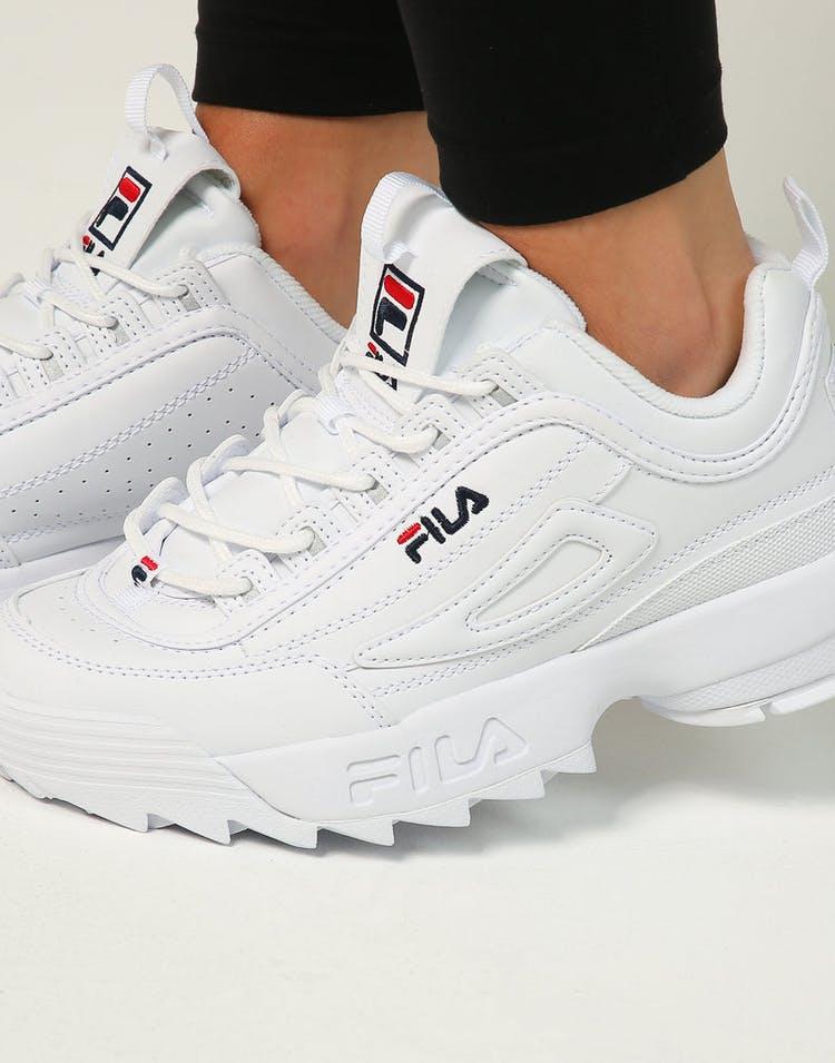 8b826e039b Fila Women's Disruptor II White/Navy/Red