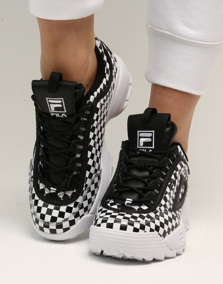 Fila Women's Disruptor II Checkers Black/White