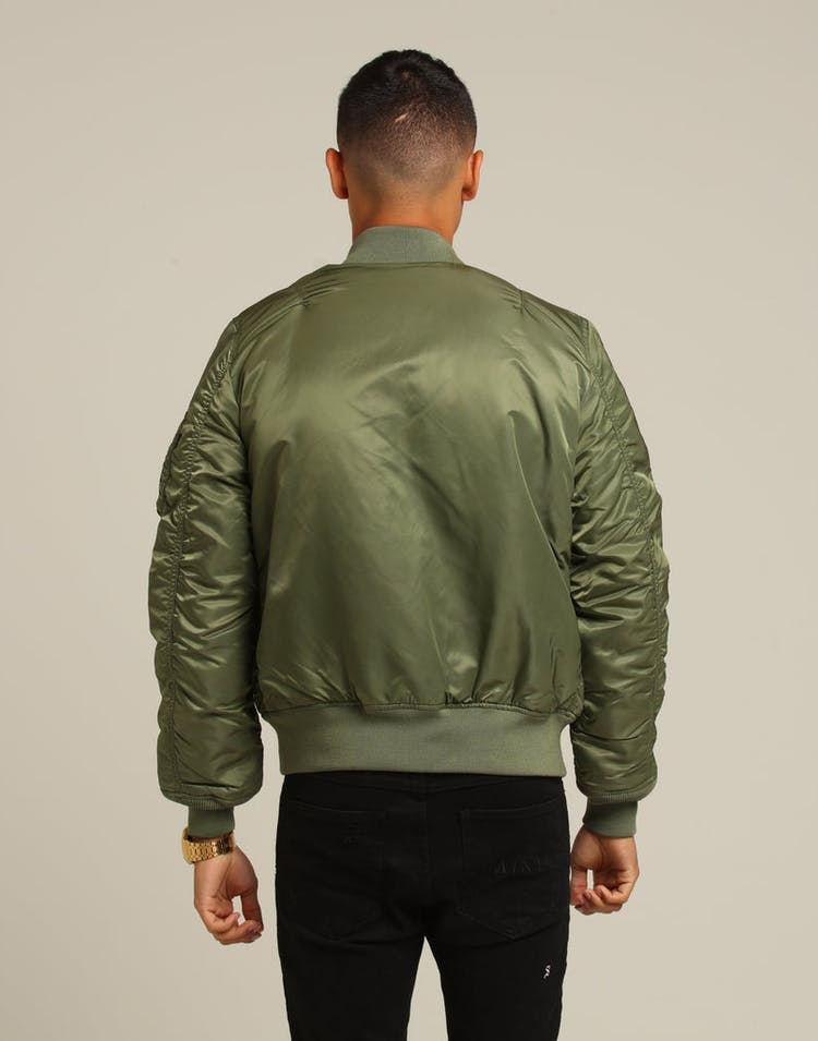 ALPHA INDUSTRIES MA-1 SLIM FIT FLIGHT JACKET SAGE