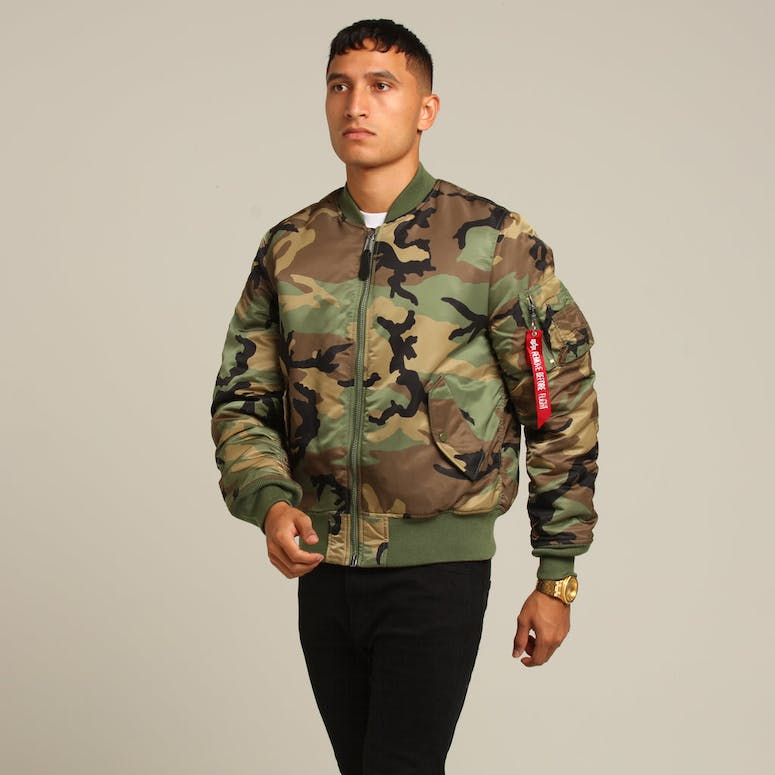 ALPHA INDUSTRIES MA-1 SLIM FIT FLIGHT JACKET CAMO