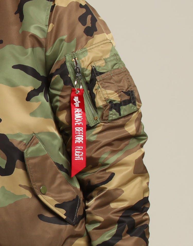 online retailer 48cb0 a8f79 ALPHA INDUSTRIES MA-1 SLIM FIT FLIGHT JACKET CAMO