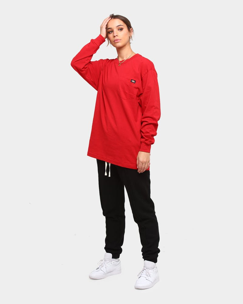 Dickies Heavy Long Sleeve T-Shirt English Red