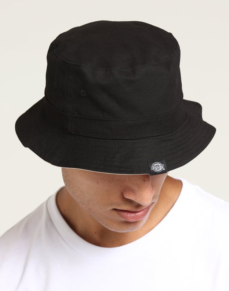 a6a604386 Dickies Stamford Reversible Bucket Hat Black/Natural