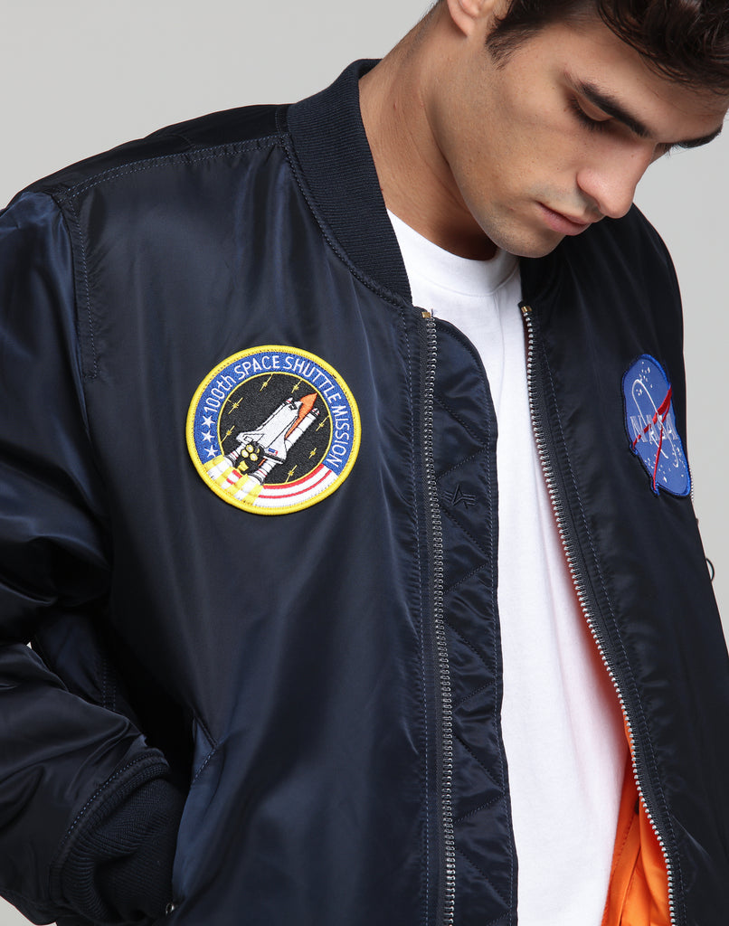 Wholesale Alpha | MA 1 NASA Flight Jacket Navy | Mens | New Threads