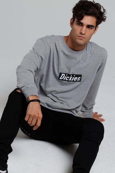 Dickies Lafayette Classic Fit L/S Tee Grey Marle