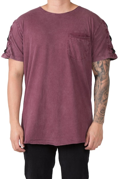 Nana Judy Chains Tee Burgundy