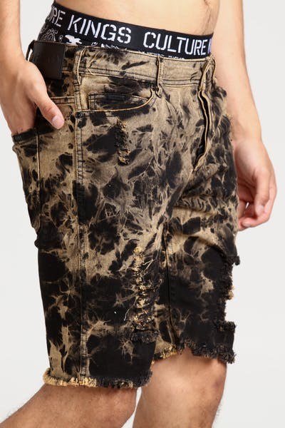 Nana Judy Slayer Distressed Denim Short Tie Dye