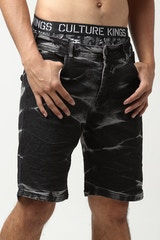 NANA JUDY CHILLA VEE DENIM SHORT ACID BLACK