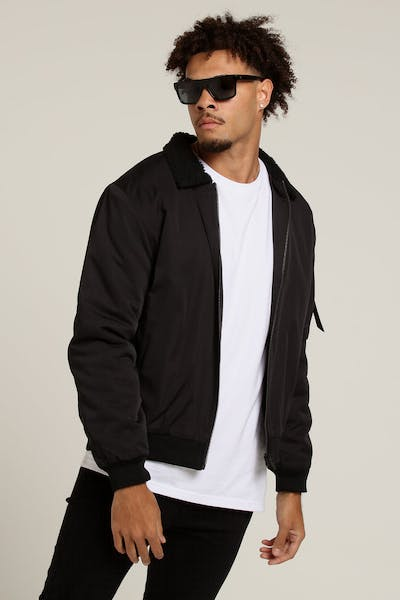 Nana Judy Cipher Shearling Bomber Jacket Black
