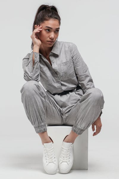 Nana Judy Women's Idol Jumpsuit Grey Pigment