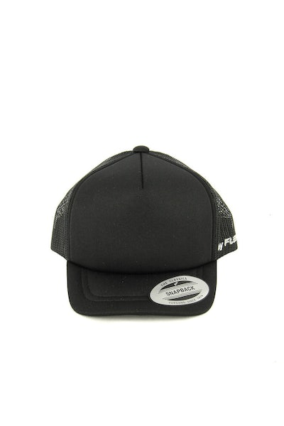Flexfit Youth High Crown Trucker Black