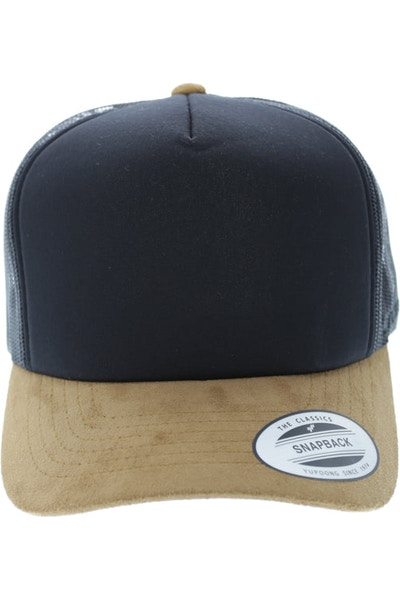 Flexfit HI Crown Suede Trucker Black/tan