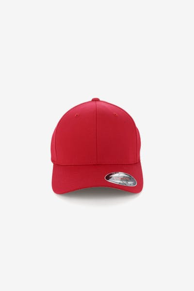 491159ceffe Flexfit Worn By The World Fitted Red