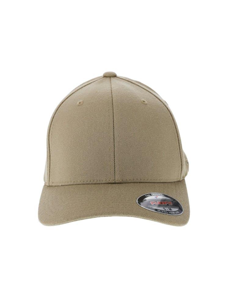 73f385606ef6 Flexfit Staple Wool Blend Fitted Hat Khaki – Culture Kings